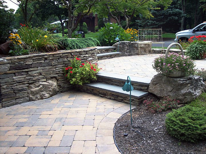 Retaining Wall Steps Pavers D Amp D Tree And Landscape