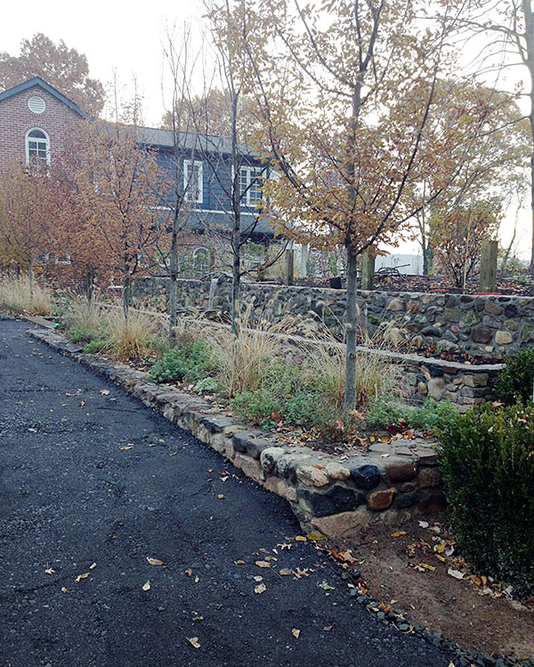 Sneden's Landing masonry and landscaping